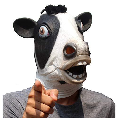 CreepyParty Halloween Kostüm Party Tierkopf Latex Maske Milchkuh Karneval Maske