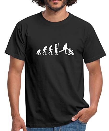 Evolution Papa Kinderwagen Nachwuchs Männer T-Shirt, L, Schwarz