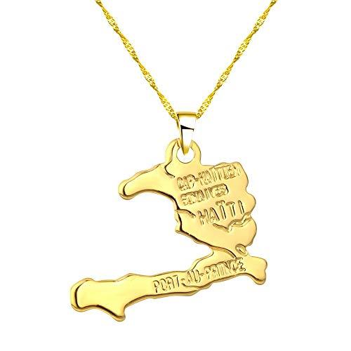 TFOOD halsketting voor dames, kaart uit Zuid-Afrika, hanger van gouden ketting, hanger van etnische sieraden, patriotische accessoires, cadeau voor mannen of moeder