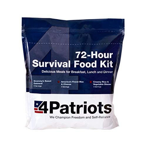 4Patriots Emergency Food Supply - 72-Hour Survival Kit - Freeze Dried Food - 25-Year Shelf Life - 16...