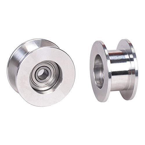 Fine craftsmanship GT2 Idler Pulley Without Tooth Timing Belt Pulley Wheel 3/5MM Bore Width 6MM 3D Printer Parts for For For For Prusa I3 MK3 MK3S Quadcopters Accessories (Size : Bore 5mm) Perfect sty