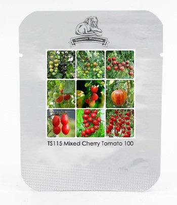 TM Heirloom mixte 9 Types comestibles Graines de tomates cerises, Professional Pack, 100 graines / Pack, très doux délicieux TS115