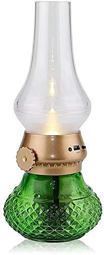 Modenny Lámparas de mesa Blowing USB de la lámpara LED de control por voz LED recargable inalámbrica ROJO noche Luces de la vela creativo del keroseno lámpara de aceite Diseño con dimmer tecla de cont