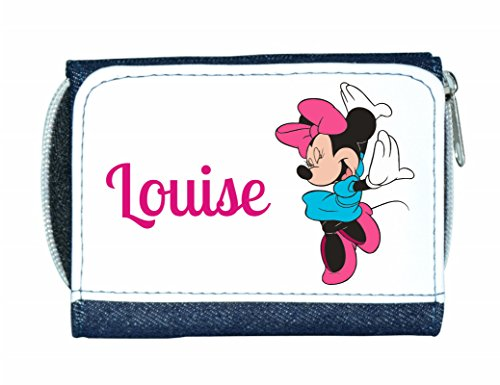 Personalised Denim Purse with Minnie Mouse Style Design by Mayzie Designs