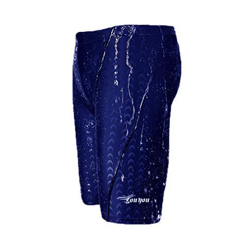 Elonglin Homme Maillot de Bain Short de Bain en Bonne élasticité de materiau High-Tech Boxers Slip Séchage Rapide pour Plage/Sport/Natation/Plongée Bleu FR 40-42 (Asie 4XL)