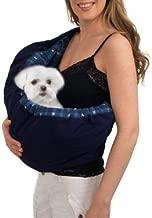 OrgMemory Pet Sling Carrier, Adjustable Dog Sling, Small Dog Cat Outdoor Shoulder Pet Carrier