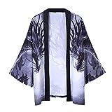 Jacke Top Summer Japanese Five Point Sleeves Kimono Mens and Womens Couple Cloak