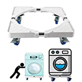 Multi-Functional Movable Base Furniture Dolly Size Adjustable for Washing Machine, Dryer and Refrigerator (4 Wheels)