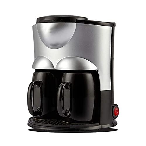 Piccola macchina da caffè a goccia, appena macinato macchina da caffè automatica, macchina da caffè domestica (rosa) (colore : nero) YXF99 (colore : Nero)