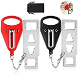 Portable Door Lock, Latrent Travel Door Stopper Lock with Drawstring Bag for Additional Safety and Privacy for Airbnb, Hotel, Apartment, Home, Bedroom, School (2 Pack)