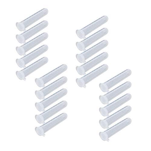 Othmro 200 Stk. 10 ml Kunststoff-Zentrifugenröhrchen mit Schnappverschluss, graduiertes Mikrozentrifugenröhrchen aus Polypropylen, runder Boden, klar, Aufbewahrungsbehälter für Bebenhefe-Probenlabor