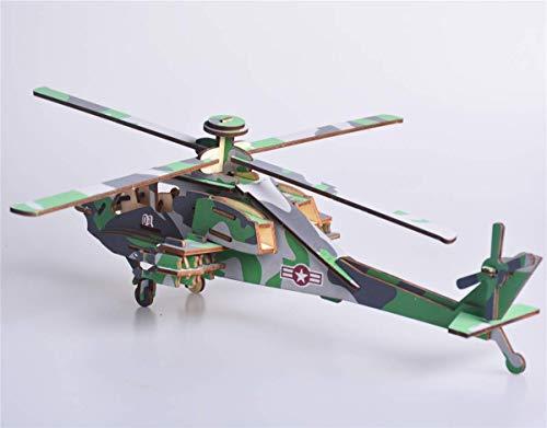 GoGoVolt Helicóptero Militar en 3D. Maqueta de Apache para