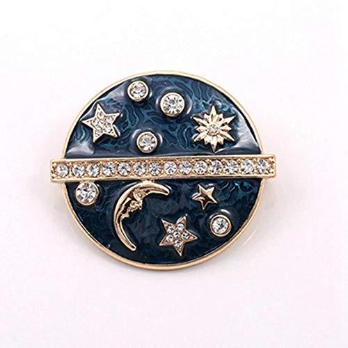 Meisjes mode nagellak druppelvorm ster maan Galaxie zon broche pin kleding accessoires sieraden broche