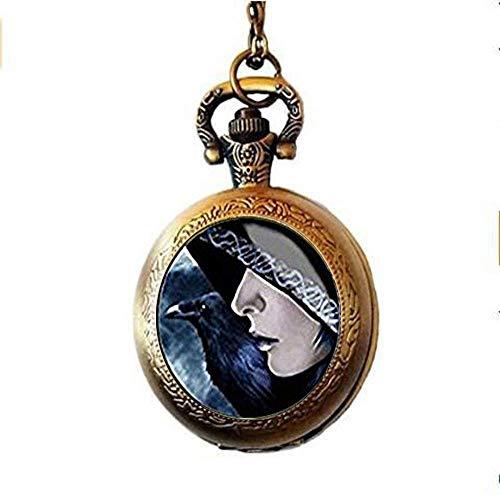 xinzhahi - Collar de Reloj de Bolsillo con Cuervo Oscuro y Reloj de Bolsillo, Regalo para Navidad