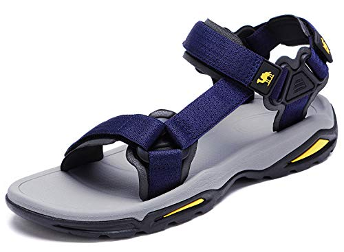 CAMEL CROWN Mens Hiking Sandals Waterproof with Arch Support Open Toe Outdoor Strap Lightweight Athletic Trail Sport Sandals Dark Blue 11