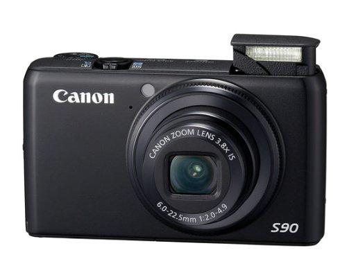 Canon PowerShot S90 Digitalkamera (10 MP, 3, 8-fach opt. Zoom, 7,6cm (3 Zoll) LCD-Display, 1:2,0-4,9) schwarz
