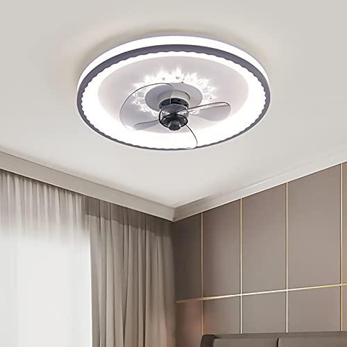 Ventilador Techo Led Y Mando A Distancia Lampara Ventilador Techo Silencioso Luz Ventilador Techo Regulable 3 Velocidades Para Dormitorio Salon Cocina Ceiling Lamp