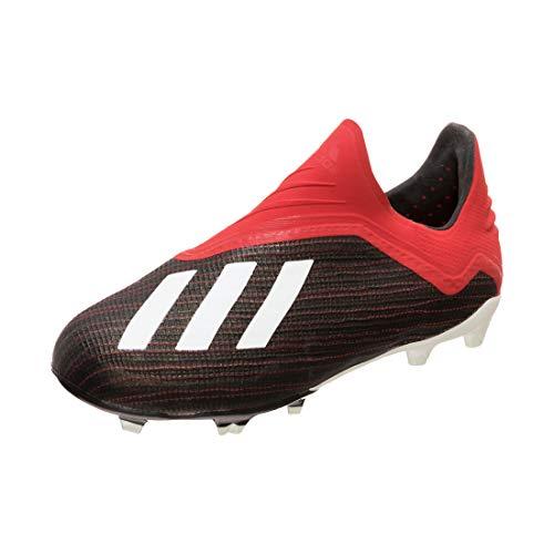adidas Performance X 18+ FG Fußballschuh Kinder schwarz/rot, 38 EU - 5 UK - 5.5 US
