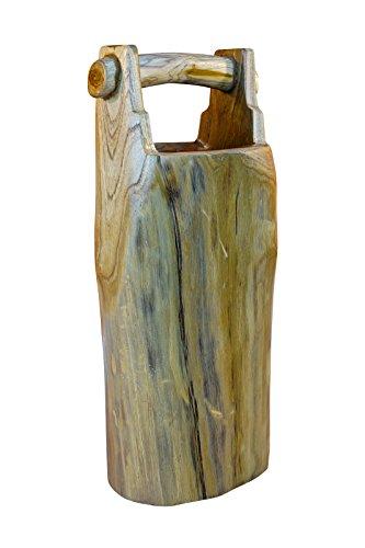 Kinaree Teak paraplustandaard - 66 cm hoge boomstam paraplustandaard in rustieke look