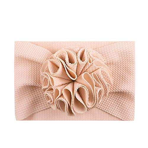 XIAOBAO Mignon Accessoire Cheveux Lavable Coloré Cheveux Wrap pour Enfants Elastique Croix Tête Wrap Super Doux et Extensible Rose 1
