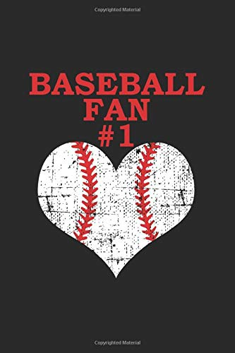 Baseball Fan #1: Baseball mom Gift, Baseball fans journal, Lined Notebook / Journal Gift, 120 Pages, 6x9, Soft Cover, Matte Finish