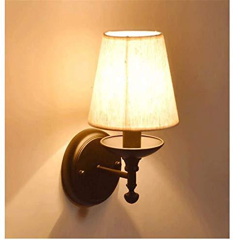 BXU-BG Noche Lampcloth apliques de pared de luz simple pasillo del pasillo del dormitorio balcón luz de la pared de estar Lámparas cabecera de la habitación lámpara decorativa Luz Pantalla LED lámpara