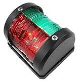 Fransande - Luces de navegación para barco, 12 V, lámpara de señalización de navegación, estanca para barco, marino, pontón, rojo y verde