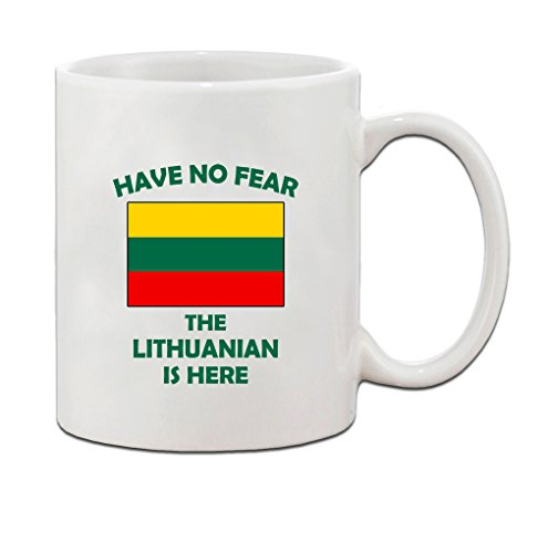 Have No Fear Lithuanian Is Here Lithuania Lithuanians Coffee Tea Mug Cup Holiday Christmas Hanukkah Gift For Men & Women