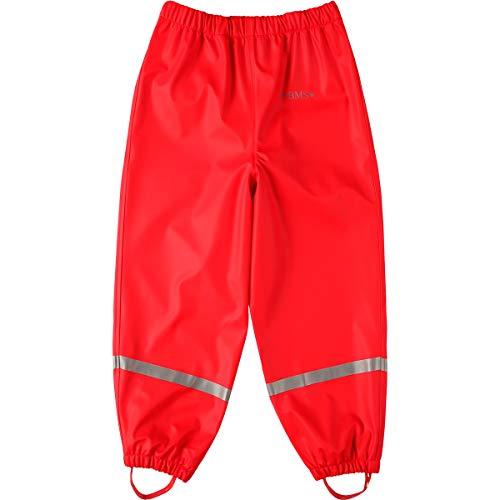 BMS Regenbundhose, wasserdicht für Mädchen in Rot Größe 86