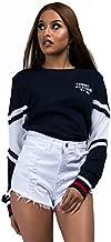 Tommy Hilfiger Women's Long Sleeve Pullover Logo Sweater Sweatshirt Pajama Top Pj, Navy Blazer, X-Large