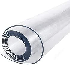 Weich PVC Meterware Tischdecke Tischfolie transparent 0,70m breit 2mm dick