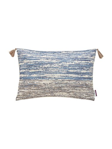 Tom Tailor T-Rustical kussenhoes, polyester, blauw/natuur, 35 x 55 x 0,05 cm