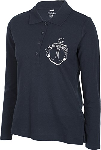 Küstenluder BE THE ONE TO GUIDE ME Mermaid Anker Sailor Langarm POLO-SHIRT Rock - 5