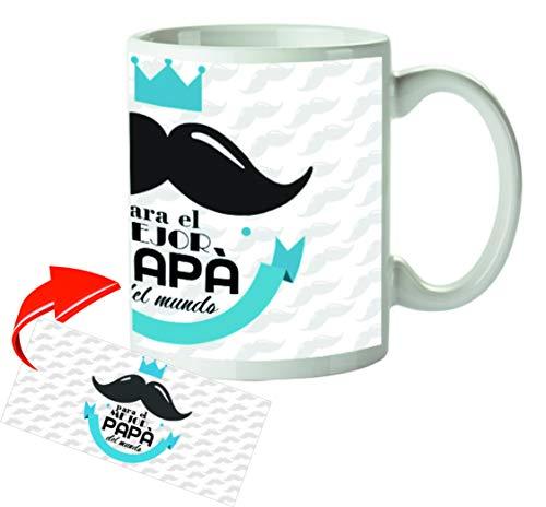 Kembilove Tazas de Desayuno Originales para Padres – Taza con Mensaje para el Mejor Papá del Mundo – Taza de Desayuno para Regalar el día del Padre – Tazas de Café para Padres