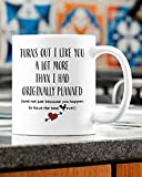 Taza de café con texto en inglés 'I Like You A Lot More Than I Had Originally Planned Mug | Best Chicken Ever Mug 11oz