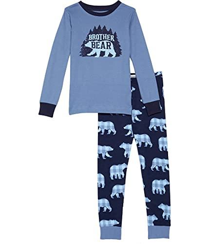 Hatley Little Blue House by Long Sleeve Appliqué Pyjama Set Juego de Pijama, Brother Bear, 8 Years para Niños