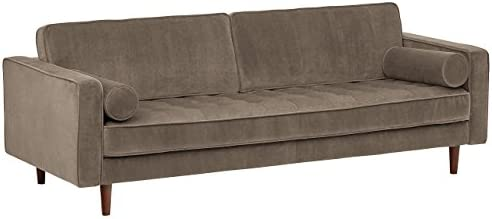Best Amazon Brand – Rivet Aiden Tufted Mid-Century Modern Velvet Bench Seat Sofa Couch, 86.6
