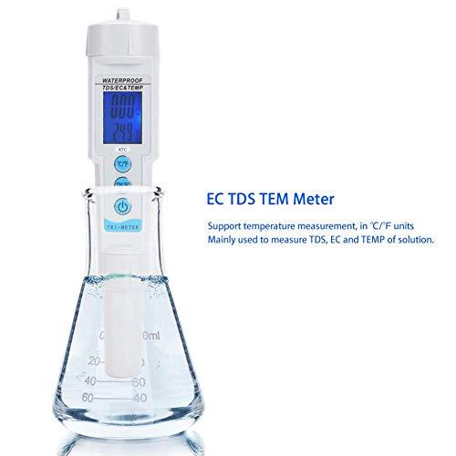 Waterkwaliteitmeter TDS EC-temperatuur 3-in-1 set met groot en helder LCD-scherm hoge resolutie nauwkeurigheid waterkwaliteit meter voor huishoudelijke zwembaden en aquarium MEHRWEG AANBIEDING