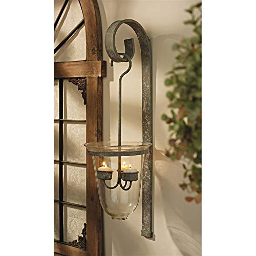 Design Toscano MH35549 Tuscan Hanging Candeliere Glass Pendant Sconce,black
