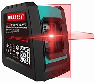 Mileseey Laser Level | Professional 2 Lines Vertical Cross Laser Leveler with Battery and Tripod | L52R