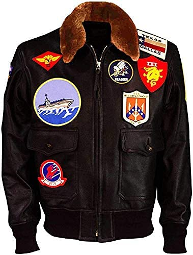 Top Gun Jacket para hombre - Chaqueta de bombardero de aviador de la fuerza aérea para hombre - WW2