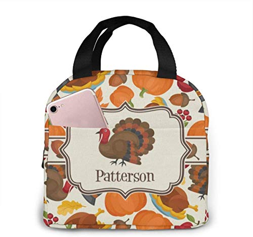 Lunchpaket, Isolierte Lunchbox, Traditional Thanksgiving Placemat Portable Insulated Lunch Bags Handtaschen - School Work Travel