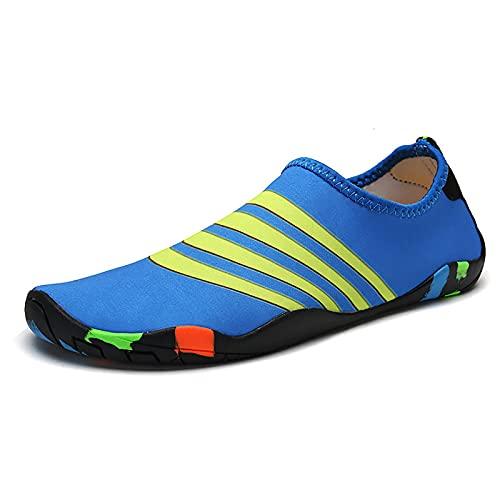 XYZLEO Zapatos de Agua, Deportes Acuáticos Calzado Unisex de Secado rápido Playa Buceo Surf Snorkel Yoga Piscina, Natación Escarpines