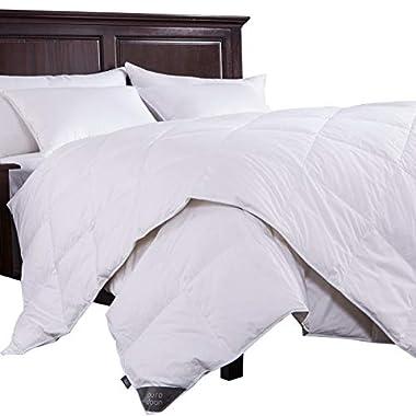 puredown Lightweight Down Comforter,Light Warmth Duvet Insert, King, White