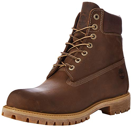 Timberland Heritage 6 Inch Premium Waterproof Stivali Uomo, Marrone (Md Brown Full Grain), 43 EU