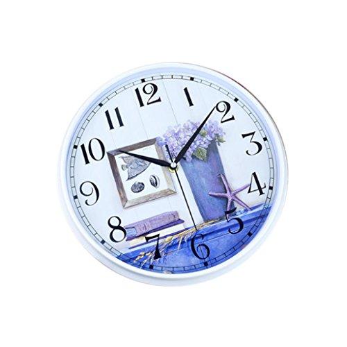 candelabro DBL 12 Pulgadas Reloj de Pared Elegante Minimalista Reloj Creativo Tipo de Pared Redonda Sala de Estar Dormitorio Hogar Moderno Reloj de Cuarzo Mudo Estilo Mediterráneo Reloj de Pared