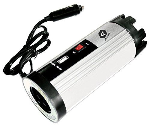 AUTONIK 151040 Spannungswandler mit USB, 12 V auf 230 V, 150/300 W