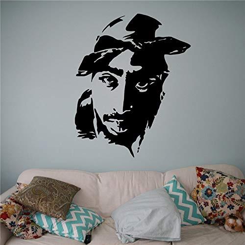 ASFGA Zusammenfassung Banksgo Tan Superstar Tupac Musik Rock Sänger Hip Hop Rap Teen Traumgesicht 58 x 72 cm