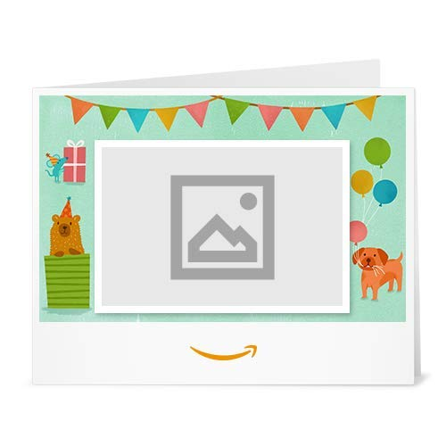 Amazon Gift Card - Upload Your Photo (Print) - Birthday Party Animals