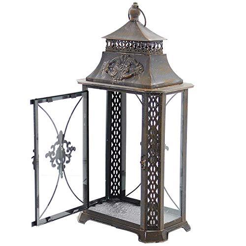SIDCO Metall Laterne Barock Windlicht Kerzenhalter Gartenlaterne Gartenlampe Deko